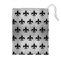 RYL1 BK MARBLE SILVER Drawstring Pouches (Extra Large)