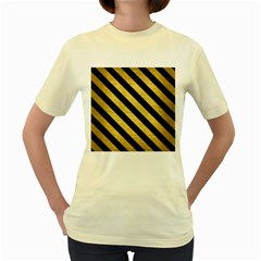 STR3 BK MARBLE GOLD (R) Women s Yellow T-Shirt
