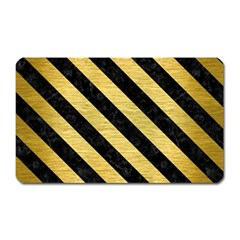 STR3 BK MARBLE GOLD (R) Magnet (Rectangular)