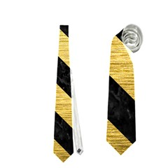 STR3 BK MARBLE GOLD (R) Neckties (Two Side)