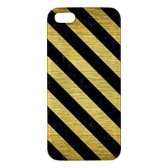 STR3 BK MARBLE GOLD (R) Apple iPhone 5 Premium Hardshell Case