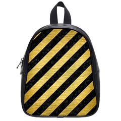 STR3 BK MARBLE GOLD School Bags (Small)