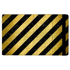 STR3 BK MARBLE GOLD Apple iPad 3/4 Flip Case