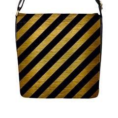 STR3 BK MARBLE GOLD Flap Messenger Bag (L)