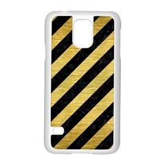 STR3 BK MARBLE GOLD Samsung Galaxy S5 Case (White)