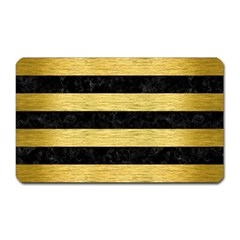 STR2 BK MARBLE GOLD Magnet (Rectangular)