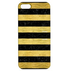STR2 BK MARBLE GOLD Apple iPhone 5 Hardshell Case with Stand