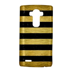 Stripes2 Black Marble & Gold Brushed Metal Lg G4 Hardshell Case