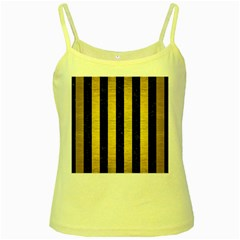 STR1 BK MARBLE GOLD Yellow Spaghetti Tank
