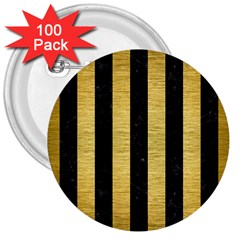 STR1 BK MARBLE GOLD 3  Buttons (100 pack)