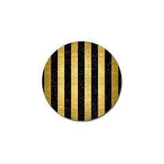 STR1 BK MARBLE GOLD Golf Ball Marker (4 pack)