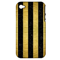 STR1 BK MARBLE GOLD Apple iPhone 4/4S Hardshell Case (PC+Silicone)