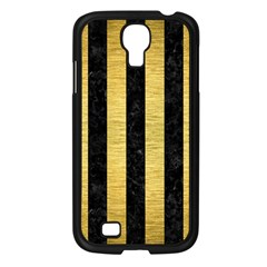 STR1 BK MARBLE GOLD Samsung Galaxy S4 I9500/ I9505 Case (Black)