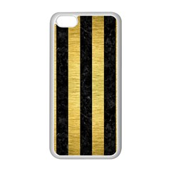 STR1 BK MARBLE GOLD Apple iPhone 5C Seamless Case (White)