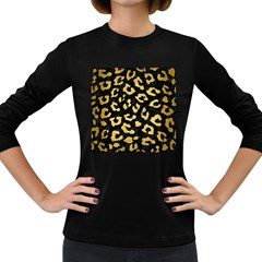 SKN5 BK MARBLE GOLD (R) Women s Long Sleeve Dark T-Shirts