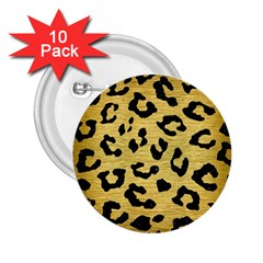 SKN5 BK MARBLE GOLD 2.25  Buttons (10 pack)