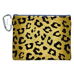 SKN5 BK MARBLE GOLD Canvas Cosmetic Bag (XXL)
