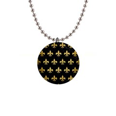 RYL1 BK MARBLE GOLD (R) Button Necklaces