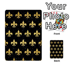 RYL1 BK MARBLE GOLD (R) Multi-purpose Cards (Rectangle)