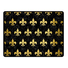 RYL1 BK MARBLE GOLD (R) Double Sided Fleece Blanket (Small)