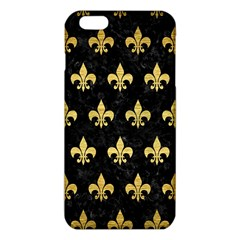 Royal1 Black Marble & Gold Brushed Metal (r) Iphone 6 Plus/6s Plus Tpu Case