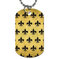 RYL1 BK MARBLE GOLD Dog Tag (One Side)