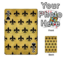 RYL1 BK MARBLE GOLD Playing Cards 54 Designs