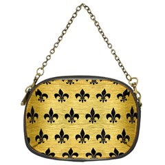 RYL1 BK MARBLE GOLD Chain Purses (One Side)