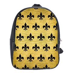 RYL1 BK MARBLE GOLD School Bags(Large)