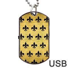 RYL1 BK MARBLE GOLD Dog Tag USB Flash (One Side)