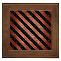 STR3 BK MARBLE COPPER (R) Framed Tiles