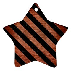 STR3 BK MARBLE COPPER (R) Star Ornament (Two Sides)