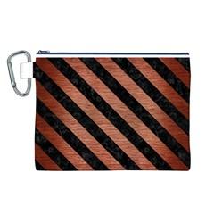 STR3 BK MARBLE COPPER (R) Canvas Cosmetic Bag (L)
