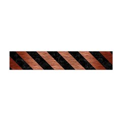 Stripes3 Black Marble & Copper Brushed Metal (r) Flano Scarf (mini)