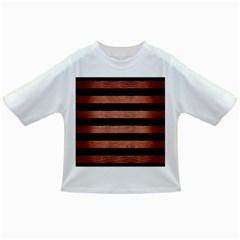 Stripes2 Black Marble & Copper Brushed Metal Infant/toddler T Shirt