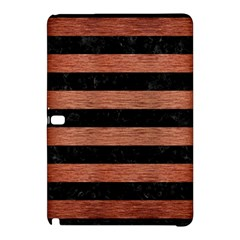 Stripes2 Black Marble & Copper Brushed Metal Samsung Galaxy Tab Pro 12 2 Hardshell Case