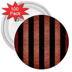 STR1 BK MARBLE COPPER 3  Buttons (100 pack)