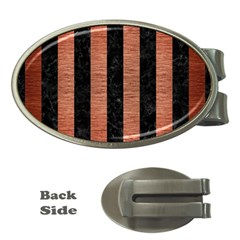 STR1 BK MARBLE COPPER Money Clips (Oval)