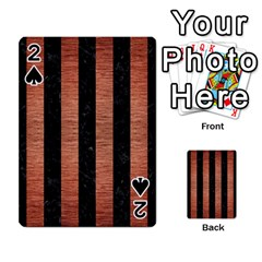 Stripes1 Black Marble & Copper Brushed Metal Playing Cards 54 Designs