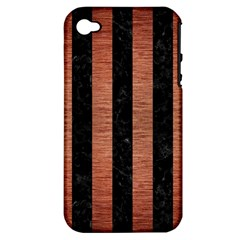 STR1 BK MARBLE COPPER Apple iPhone 4/4S Hardshell Case (PC+Silicone)