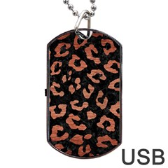 SKN5 BK MARBLE COPPER (R) Dog Tag USB Flash (One Side)