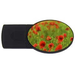 Poppy II - wonderful summer feelings USB Flash Drive Oval (1 GB)