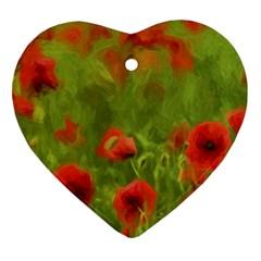 Poppy II - wonderful summer feelings Heart Ornament (2 Sides)