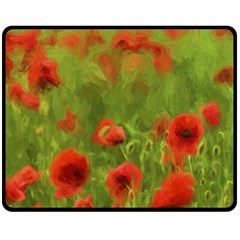 Poppy II - wonderful summer feelings Double Sided Fleece Blanket (Medium)