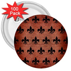 RYL1 BK MARBLE COPPER 3  Buttons (100 pack)