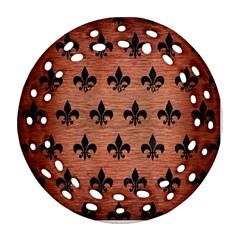 Ryl1 Bk Marble Copper Round Filigree Ornament (2side)