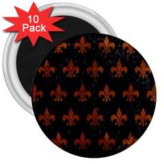 RYL1 BK MARBLE BURL (R) 3  Magnets (10 pack)