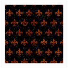 Royal1 Black Marble & Brown Burl Wood (r) Medium Glasses Cloth