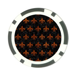 RYL1 BK MARBLE BURL (R) Poker Chip Card Guards
