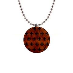 RYL1 BK MARBLE BURL Button Necklaces